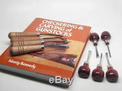 GUNLINE Leader 20 LPI Checkering Woodcarving Tools Gunsmith Stock Book RAMELSON