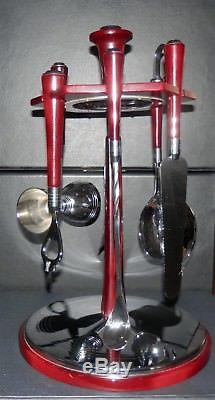 Glo- Hill Bar-mates Bar Tools With Revolving Stand