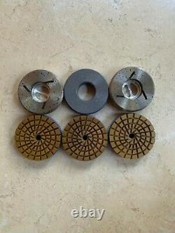 Granite marble engineered stone countertop polishing tools 4 snail-lock 5-step