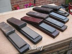 Group of 6 vintage oil stones/ sharpening stones