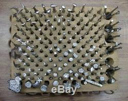 HUGE 190 Piece Lot Craftool Leather Working Tools, Many Different Styles & Shapes