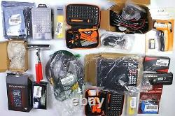 HUGE Wholesale Lot of Assorted TOOLS & Electronics, 55 items, MSRP over $1700