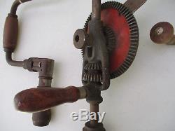 Hand Drills Vintage Antique Tool Lot Woodworking Carpentry Miller Falls Mass