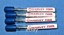 Harvey Tool 0.093 Dia X 1/2 LOC. 0.005cr Carbide End Mills ALTiN 4 pcs lot