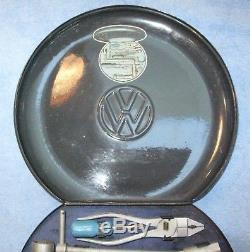 Hazet Vw Tourist Round Tool Kit Box Porsche Volkswagen Original Paint Vintage