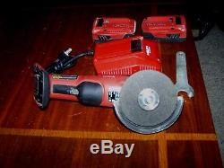 Hilti AG-500 A18 Cordless Brushless Grinder with (2) Batteries and charger