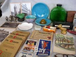 Huge Junk Drawer Collectibles Lot Jewelry Rings Pottery Paper Pipes Tools More
