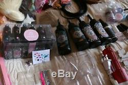 Huge over 100 item mixed craft set lot doll making patchwork iron UV resin tools