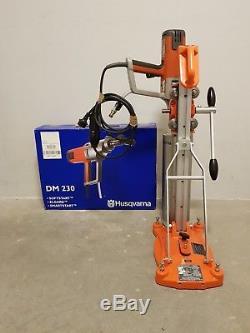 Husqvarna DM230 Professional Wet Drill Motor + DS160C Core Drill Rig / Stand