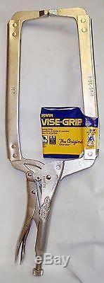 Irwin Vise-Grip 18R 21 18 Long-Reach Locking C-Clamp Pliers-Box of 5