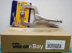 Irwin Vise-Grip 20 11SP 11 Locking C-Clamp Pliers with Swivel Pads-25pc lot