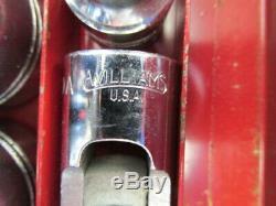 J. H. Williams Tools USA Vintage Socket Set 1/2 Drive S. A. E. Set 18 Pcs. & Box