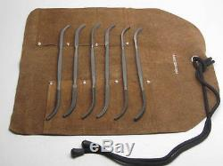 Jewelery Rifflers File Tools Italy Cut 0 Leather Tool Roll Grobet