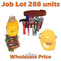 Job Lot 288 Units of Plastic Helmet Belt with Tools (Half Pallet) Wholesale Price