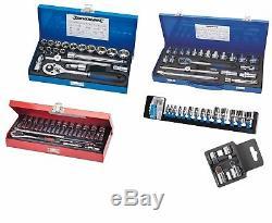 Job lot of socket sets mechanics tools. 1/4 3/8 and 1/2 Wholesale clearance