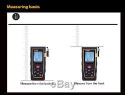 Jufune CP-100S 100M Laser Distance Meter Rangefinder Measure Tape Diastimeter CA