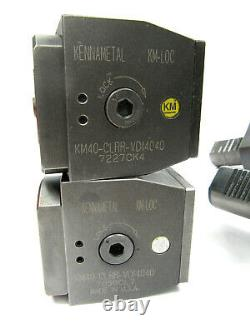 KENNAMETAL KM-40 CLAMPING UNITS VDI-40 Lathe TOOL HOLDERS LOT Coolant Thru