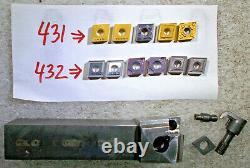 KENNAMETAL MCLNR-164C RIGHT HAND LATHE TOOL HOLDER 1 SQ SHANK + 11 CNMG Inserts