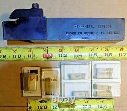 KENNAMETAL RH Deep Grooving Tool Holder 1-1/4 Shank, 10 Insert 1/4 Full Radius