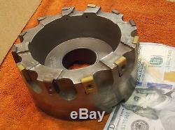 Kennametal 5 shell face mill 1.5 arbor 12 indexable carbide insert facemill