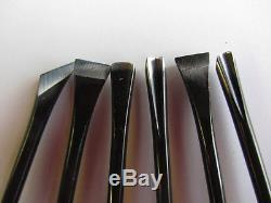 Kunimitsu Wood Carving Tools Set 6 Pc Goug Skew Chisel Woodworking 52B6