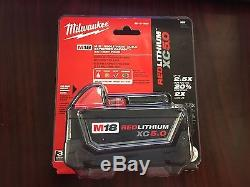 LOT OF 9 Milwaukee M18 Battery Red Lithium XC5.0 Extended Capacity 48-11-1850