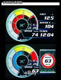 LUFI XF Full LCD OBD2 Gauges Head Up Digital Display (50 types data scan tools)