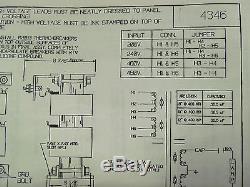 Large electric transformer 208,240,460v UV light power supply BIG