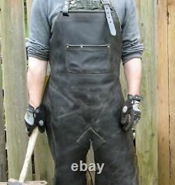Leather Welding Apron Protective Clothing Carpenter Blacksmith Gardening # 01