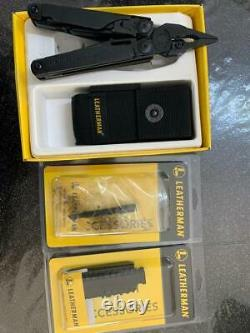 Leatherman Surge Multi Tool, Black + Pocket Nylon Sheath, 42 Bit Kit, Extender