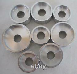 Lot 16 Jewelers Aluminum Straight Wall Dies Variety BB 508 Watch Crystal Press