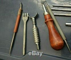 Lot 25 craft tool company USA leather working tools and stamps