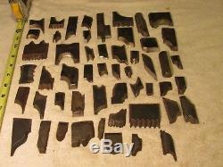 Lot 52 Vintage USA Cutters shaper knives moulder tools lathe milling molding