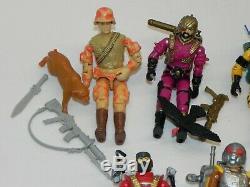 Lot 7 1988 Vintage ALL 100% Complete ARAH GI Joe Action Figure Guns Tools Access