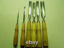 Lot Of 6 Buck Bros. Woodworking Gouges