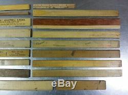 Lot Of 78 Vintage Rules Rulers Measures Advertising Wooden Drafting Schoolhouse