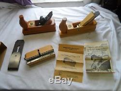Lot Ulmia Woodworking Planes Germany Extra Blade Excellent + Condition Look