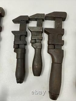 Lot of 10 + Antique Monkey Wrenches Bemis & Call, L COES and More