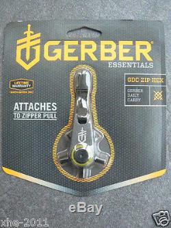 Lot of 10 Gerber GDC Five Tools In One Keychain Zip Hex Tool 1740 + 5 bit sizes