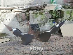 Lot of 2 Forged stainless Steel Axe Blade Viking Tomahawk Hatchet AXE BLADE