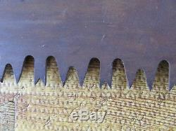 Lot of 2 Vintage 36 Warranted Superior Crosscut Logging Saws with Handle