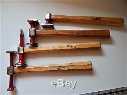 Lot of 4 Professional Hammer BEM MULLER, Blacksmith, Tinsmith, Metalwork Machinist