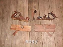 Lot of 5 Vintage Woodwork Planes STANLEY Nos. 4,180, 220 & 2 Wood Block Planes
