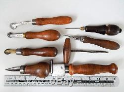 Lot of 8 Antique French Cobbler tools, Saddler, Leather, shoemaker, Collectible, tool