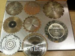 Lot of 81 Circular Saw Blades & Dado Sets, 3-3/8 to 10, Table Tool Brush