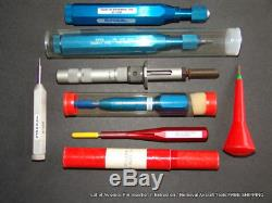 Lot of Avionics Pin Insertion Extraction Removal Aircraft Tools FREE SHIPPING