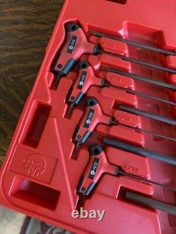 Mac Tools 9pc Set SAE T-Handle Hex Key Set Nice! SHKT9PT