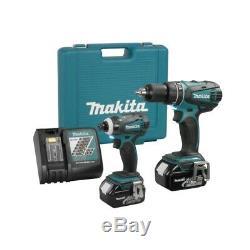 Makita 1/2 Inch Hammer Drill And 1/4 Inch Imapct Driver Combo Kit