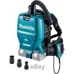 Makita XCV05ZX 36V Brushless Cordless 1/2 gallon HEPA Filter Backpack Dry Vacuum