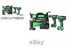 Metabo HPT 12-Volt Max 3Tool Power Tool Combo Kit WithCase 2-Batteries + 1 Charger
